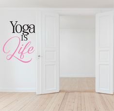 Perfect wall sticker addition to your yoga studio or home space