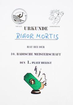 Jugger Urkunde 10. Badische Meisterschaft 2012, Rigor Mortis