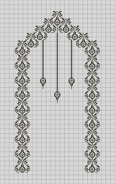 Exceptional Stitches Make a Crochet Hat Ideas. Extraordinary Stitches Make a Crochet Hat Ideas. Cross Stitching, Cross Stitch Embroidery, Embroidery Patterns, Cross Stitch Patterns, Filet Crochet, Crochet Stitches, Crochet Shawl, Arabesque Pattern, Palestinian Embroidery
