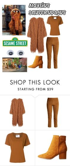 """""""Mr. Snuffleupagus"""" by ballerinahippie on Polyvore featuring Moon River, Vince, Margaret Howell, Bamboo and Sesame Street"""