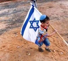 little boy carrying flag of israel Jerusalem Israel, Israel Palestine, Cultura Judaica, Jesus Christus, Train Up A Child, Promised Land, Making Aliyah, Precious Children, Holy Land