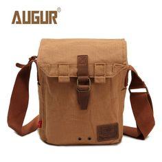 737da5f040d AUGUR Vertical Men Canvas Shoulder Cross Body Bag Casual Messenger Bag -  Banggood Mobile Canvas Crossbody