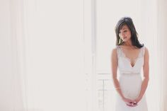 Beautiful neckline. Photography By / http://mademoisellefiona.com,Wedding Planning By / http://allianceparfete.com
