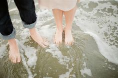 pic of feet in the ocean - if we do beach engagement session