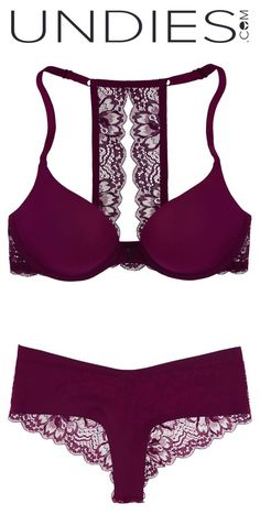 We love matching our Ruby Racerback Push-up Bra with our Jolie laser cut  Hipster. Featured here in Merlot 010cd2681