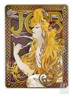 JOB POSTER Alphonse Mucha 2 RARE HOT NEW Print 24x36-PW0