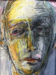 Veronica Cay - Drawing mixed media on Fabriano on a birch panel Abstract Portrait, Portrait Art, Ap Studio Art, A Level Art, Ap Art, Art Journal Inspiration, Figure Painting, Art Studios, Figurative Art