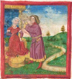 Deutsche Bibel AT, Bd. 1 (Gen. - Reg., Psalter) Furtmeyr, Berthold: Buchmalerei der Renaissance BSB Cgm 502, Regensburg,  um 1463  Folio 153