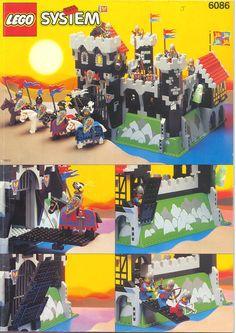 Black Knight's Castle Brickset: LEGO set guide and database Lego City, Lego Plan, Lego Chevalier, Lego Vintage, Chateau Lego, Best Lego Sets, Big Lego, Classic Lego, Lego Clones