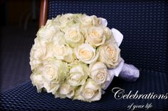white roses, classic,  you can see more of this wedding here www.Celebrations-of-your-life.de/blog