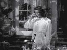 """thethirdman8: """" oldhollywoodmonamour: """"Kate in the Philadelphia Story """" """"The time to make your mind up about people is never…"""" """""""