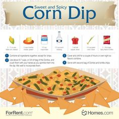 Sweet and Spicy #Corn #Dip Recipe! The dip's sweetness comes from the corn, and the spiciness comes from the Spicy Nacho flavored #Doritos.