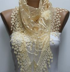 Shawl Scarf  Headband Necklace Cowl by fatwoman on Etsy, $19.00