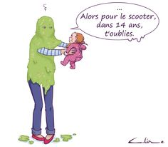 Mom and baby have accounts to settle! by Céline Théraulaz on Guide Ma . Celine, Guide, Illustrations, Pregnancy, Family Guy, Cartoon, Fictional Characters, Baby, Mom Baby