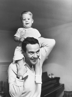 Jack Lemmon with son, Christopher