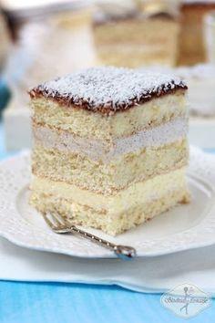 Ciasto anielskie na komunię - Angel cake Holiday Desserts, No Bake Desserts, Delicious Desserts, Polish Desserts, Polish Recipes, Polish Cake Recipe, Baking Recipes, Cake Recipes, Cake Bars