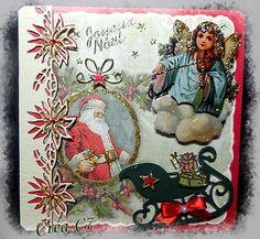 carte faite le 18.10.2015 Vintage Noël