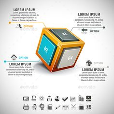 Business Infographic Cube Template #design Download: http://graphicriver.net/item/business-infographic/9066281?ref=ksioks