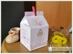 PRINTABLE MILK Carton Baby Girl DIY digital di PetitCreaciones