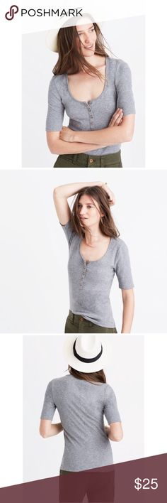 Madewell Rehearsal Henley Tee Perfect condition. No flaws. Size small. See product description in pictures. Madewell Tops Tees - Short Sleeve