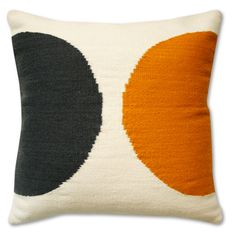 Jonathan Adler Half Circle Pillow Mustard And Grey in All Pillows & Throws