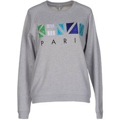 Kenzo Sweatshirt (1 305 SEK) ❤ liked on Polyvore featuring tops, hoodies, sweatshirts, grey, long sleeve sweatshirt, kenzo top, embroidered top, gray sweatshirt and long sleeve cotton tops