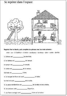 Se repérer dans l'espace – Vocabulaire spatial – CP/CE1 | la maîtresse a... - #CPCE1 #Dans #la #lespace #maîtresse #repérer #se #spatial #vocabulaire
