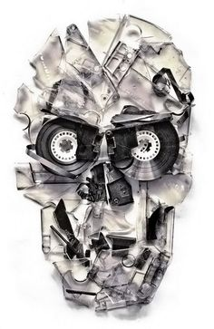 Home Taping Is Dead Art Print by Ali Gulec - Skullspiration.com - skull designs, art, fashion and more