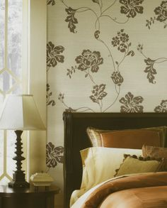 Damask Floral Vines Wallpaper by Brewster. Find this pattern at AmericanBlinds.com.
