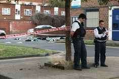 Five teenagers arrested after quadruple stabbing in Camberwell: A crime scene was in place outside Landor House in Camberwell after the quadruple stabbing (Jonathan Brady/PA)