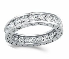 Eternity Wedding Ring CZ 14k White Gold Anniversary Band (1.00 Carat) Jewel Roses. $323.00