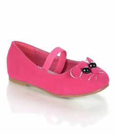 Take a look at this Fuchsia Minoro Ballet Flat by Jelly Beans on #zulily today!...so pretty