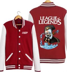 Q version Ashe baseball jacket XXXL LOL League of Legends sweatshirt