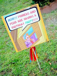 Super cute ideas for a Phineas and Ferb birthday party!