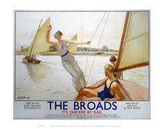 The Norfolk Broads. Vintage Railway Posters. Buy Here…