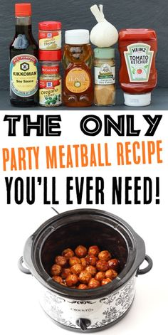 {Crazy Easy} - The Frugal Girls - - Crockpot Honey Garlic Meatballs Recipe! {Crazy Easy} – The Frugal Girls New Meat Crockpot Honey Garlic Meatballs Recipe! {Crazy Easy} – The Frugal Girls Garlic Meatball Recipe, Meatball Sauce, Meatball Recipes, Meat Appetizers, Easy Appetizer Recipes, Gourmet Recipes, Crockpot Recipes, Barbecue Recipes, Dinner Recipes