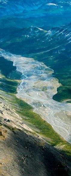 Aerial Photo of Nahanni National Park in Northwest Territories, Canada