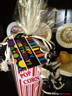fun birthday or teacher appreciation gift. Movie tickets, popcorn, candy/treats.