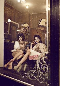 "#VintageSalon Set. We love the ""feeling"" of this photo!"