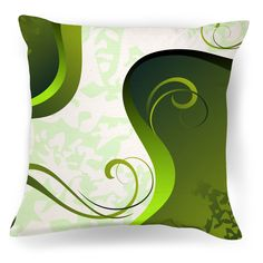 Modern Home Decor- Green and White Pillow #throwpillows #midcentury #homedecor #moderndecor #homeaccessories #greendecor #zen #bamboo #minimalist