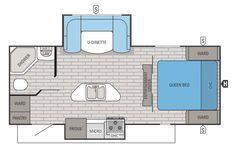 2015 White Hawk 24RDB Floorplan