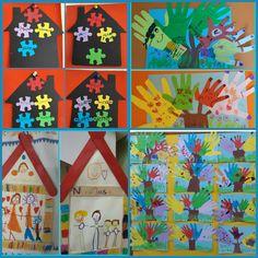 ...Το Νηπιαγωγείο μ' αρέσει πιο πολύ.: Η οικογένειά μου Preschool Classroom Decor, Preschool Activities, Toddler Crafts, Blog, Kindergarten Classroom Decor, Art Projects For Toddlers, Blogging, Toddler Outfits