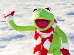 Kermit, Frog, Snow Ball, Throw, Snow