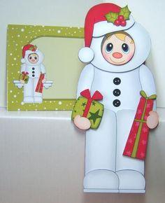 3D on the Shelf Card Kit - Christmas Snowman Fancy Dress - Photo by Katie Silver