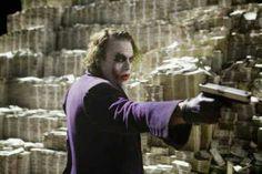 The Joker from The Dark Knight played by Heath Ledger Money Scene