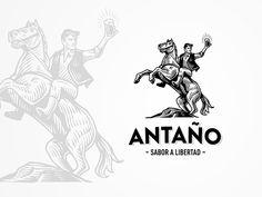 Antaño Logo by Srdjan Vidakovic for New Garden Society on Dribbble Logo Sketch, Logan, Beer Ingredients, Horse Illustration, Simple Icon, Great Logos, Brand Identity Design, Pictogram, Logo Branding