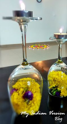 Diwali+Decoration+at+My+Home+-+Wine+glass+Diya2.jpg (874×1600)