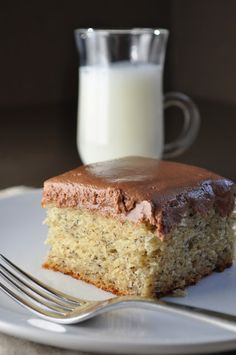 Banana Cake with Nutella Frosting  ummm...delicious