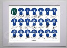 MOUNTED CHELSEA FULL SQUAD TEAM SIGNED 12X8 INCH MOUNT WITH PRINTED AUTOGRAPHS PHOTO PRINT PHOTOGRAPH AUTOGRAPHED POSTER JERSEY SHIRT GIFT PRESENT XMAS CHRISTMAS BIRTHDAY NEW FOR 2012-2013 SEASON PETR CECH FERNANDO TORRES JUAN MATA EDEN HAZARD JOHN TERRY FRANK LAMPARD. £9.99