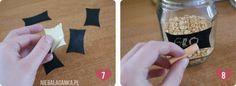 DIY: etykiety z farby tablicowej + przepis na farbę